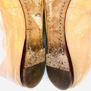 """Tory Burch Shoes - Tory Burch """"Caroline"""" Nude Patent Leather Flats"""